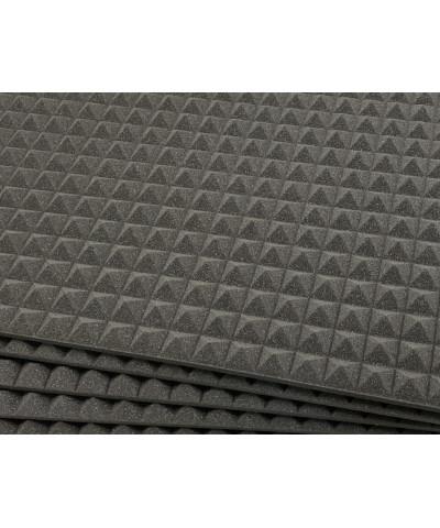 Pannelli fonoassorbenti con piramidi larghe