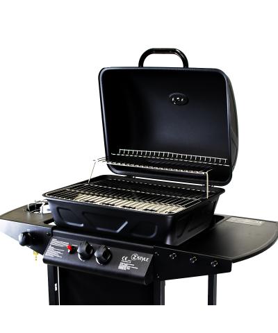Barbecue da giardino con doppia griglia