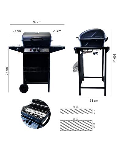 Dimensioni barbecue a gas con pietra lavica